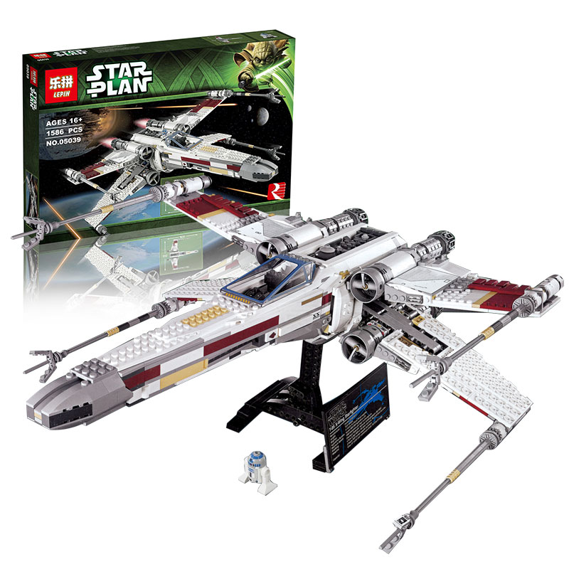 lepin USC red five x-wing starfighter